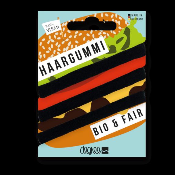 Haarelastiekjes Bio Haargummi Fairtrade - Zwart