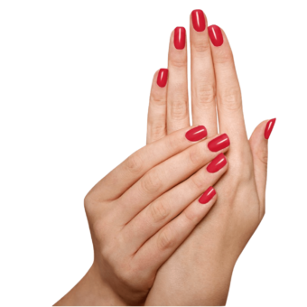 Natuurlijke Eco Nagellak Sophi - Red Bottom Stilettos (handen)