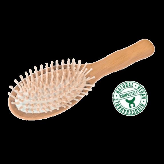 Olijfhouten Haarborstel met knoppen - Croll & Denecke