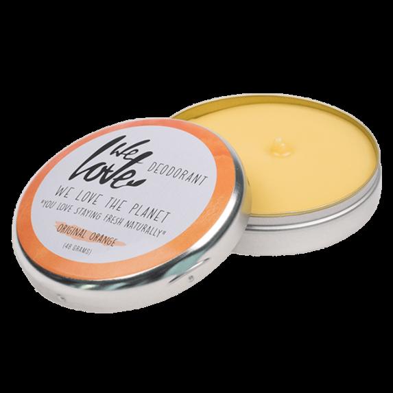 Natuurlijke Deodorant Blikje Original Orange (open) - We Love The Planet