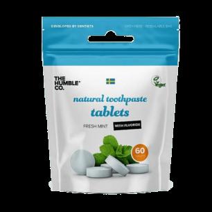 Natuurlijke Tandpasta Tabletten met Fluoride