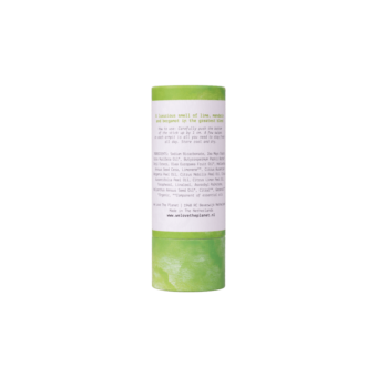 Natuurlijke Deodorant Vegan Lusious Lime stick achterkant - We Love the Planet