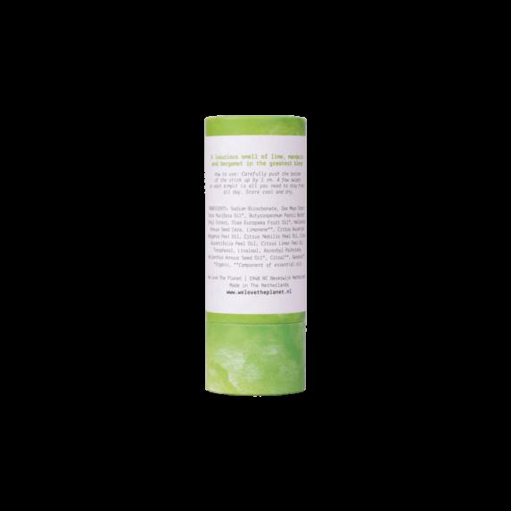 Natuurlijke Deodorant Vegan Lusious Lime stick achterkant - We Love the Planet