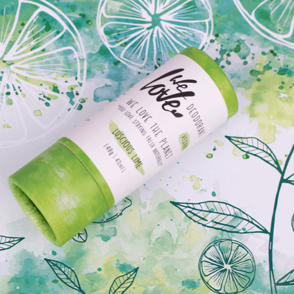 Natuurlijke Deodorant Vegan Lusious Lime stick sfeer - We Love the Planet