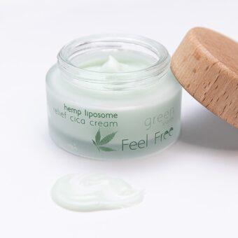 Hennep Liposomen Relief Crème Texture - Feel Free