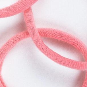Haarelastiekjes Naadloos Bio Haargummi Fairtrade (los) - Roze