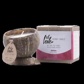 Kokosnoot Geurkaars Sweet Senses (verpakking) - We Love The Planet