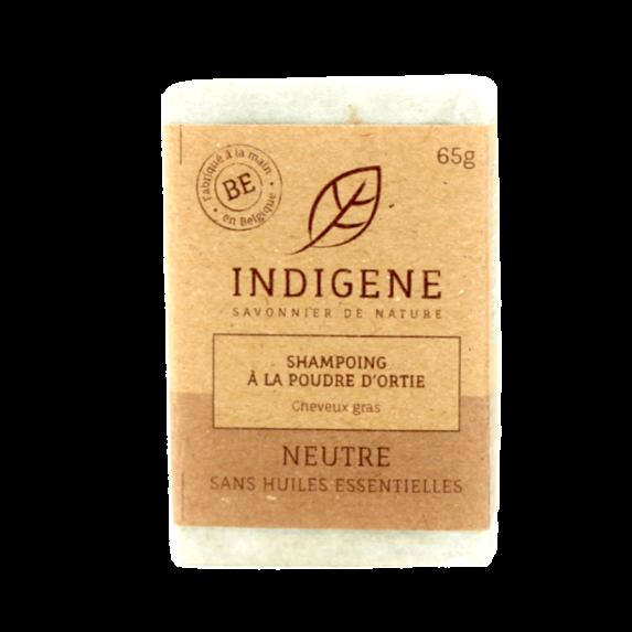 Shampoo Bar Brandnetel Neutraal 65gr - Indigene